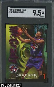 1997-98 Skybox Z-Force #172 Tracy McGrady Raptors RC Rookie SGC 9.5 MINT+