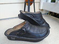 Womens Alegria SEV-601 black leather comfort clogs shoes sz 37 US 7