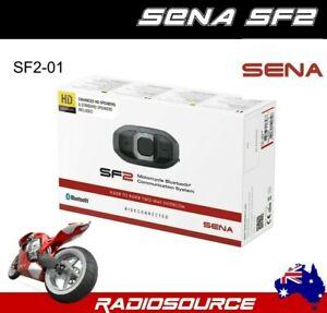 SENA SF2 MOTORCYCLE BLUETOOTH HEADSET INTERCOM FM RADIO FREE DELIVERY