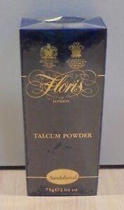 FLORIS SANDALWOOD VTG TALCUM POWDER 75GR NEW WITH BOX