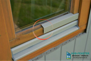 Flügelabdeckprofil L - Wetterschenkel für Holzfenster - Holz Alu Nachrüstset