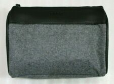 New! BOSS BY HUGO BOSS Gray Hugo Boss Travel Pouch with Zipper Closure and Logo