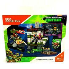 Mega Construx Teenage Mutant Ninja Turtles Sewer Subway Chase Set, 288 Piece