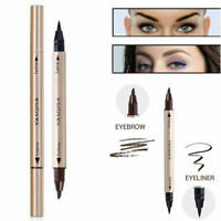 2 in 1 Eyeliner Liquid Eyebrow Pen Pencil Waterproof Makeup Cosmetic Tool