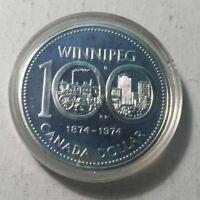 1974 Canada Silver Specimen Dollar Coin, BU UNC