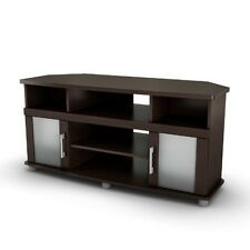 South Shore City Life Corner TV Stand, for TVs up to 50 inches, Chocolate