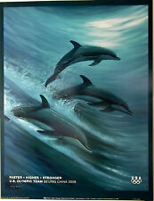 """WYLAND - Beijing 2008 Olympic Poster - FASTER - HIGHER - STRONGER 18"""" x 24"""", USA"""