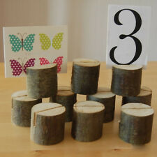 10pcs Wooden Base Wedding Table Number Place Name Card Memo Photo Stand Holder