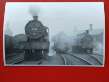 PHOTO  LMS COMPOUND LOCO NO 41137 & OTHERS AT LEEDS HOLBECK SHEDS 21/6/53