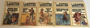 ERSTAUFLAGE  Uralte  Taschenbuch Lassiter (5 Stk.) 56, 59, 65, 72, 74