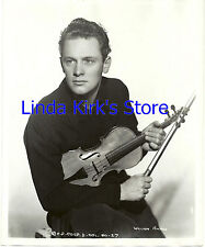 William Holden Promotional Photograph Young Holding Violin 8 x 10