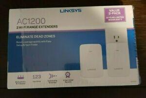 Linksys RE6350 AC1200 Dual-Band Wi-Fi Range Extender 2 Pack