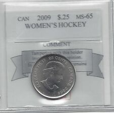 **2009 Women's Hockey**Coin Mart Graded Canadian, 25 Cent, **MS-65**