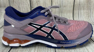 Asics Gel Kayano 26 1012A457 Pink Blue Running Shoes Women's Lace Up 8.5