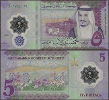 Saudi Arabia PNew 5 Riyals Polymer B141 UNC Banknote @ EBS
