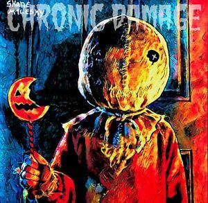 Dark Art TRICK R TREAT SAM Horror Halloween Skull 8 x 8 Photo Print  ACRYLIC