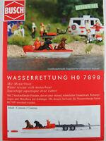 """Busch H0 7898 ACTION SET """"Wasserrettung"""" mit Motorboot 1:87/H0 NEU/OVP"""