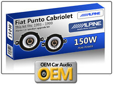 "FIAT PUNTO Cabriolet ant. CRUSCOTTO SPEAKER Alpine 3.5 "" 87cm altoparlante auto"