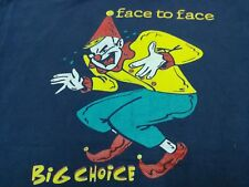 Vintage 90s Face To Face T Shirt Punk Rock Band Fat Wreck Chords Victory Records