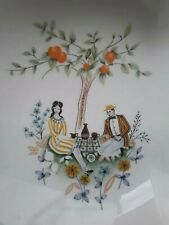 More details for vintage 1950s 50s mid century beswick picnic  design china snack dish