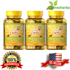 GLUCOSAMINE PLUS FOR PETS DOGS CATS JOINT BONE  ANIMAL FEED SUPPLEMENT 270 CAPS