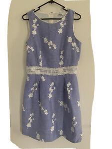 marcs dress 12 Blue White Lined