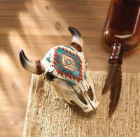 southwestern cow skull country Key keeper secret stash hider TRINKET box Statue