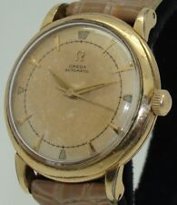 RARE OMEGA 14K GF BUMPER AUTOMATIC MOVEMENT Cal. 351 MEN's 33mm WATCH CIRCA 1951
