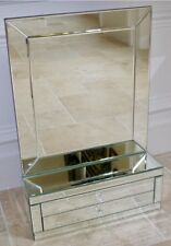 Large Mirrored Jewellery Trinket Box Mantle Dressing Table Vanity Mirror NEW