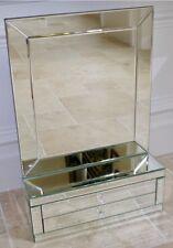 Large Mirrored Jewellery Trinket Box Mantle Dressing Table Vanity Mirror NEW