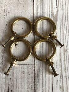 Not Refurbished Original Set Of 4 Stag Minstrel Drawer Handles Solid Brass