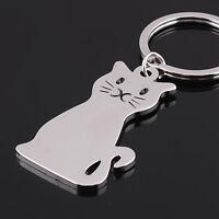 Neu Smooth Cat Kitty Metal Schlüsselanhänger Schlüsselring Key Ring Toy P DO00