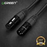 Ugreen 1M Cannon Male to Female Microphone Extension Audio Cable for Amplifier