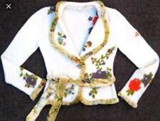 Anthropologie MOTH Holly and Ivy Sweater Cardigan S Rare velvet belt