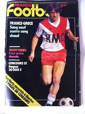 France Football du 26/02/1980; France-Grece/ Les Vert Meurtris à Nantes/ Boutrou