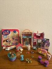 Littlest Pet Shop Six Pets At Dance Studio Ice Cream Parlor/book/lip Gloss
