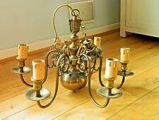 Flemish Chandelier Vintage Brass 6 lamp Ceiling Light  Decoration,Re-wired
