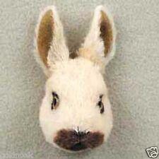 (3) LITTLE TAN, WHITE & BLACK RABBITS: -Fur  Magnets