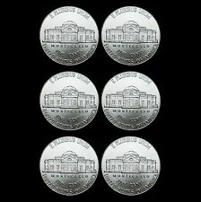 2012 2013 2014 P+D Jefferson Nickel Set Uncirculated US Mint Coin from Bank Roll