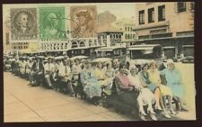 USA 1929 CPP VERDE banchi ST Pete Florida automobili