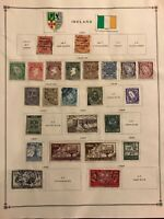Ireland Stamps Partial Lot Collection Pages 1922-1939