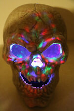 Large Halloween Skull Multi Colored Light Show Color Changing Spooky Haunted