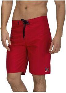 Mens Hurley Americana Icon Board Shorts CJ1867 Red White Blue Surf Swim Trunks
