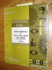 International Hough HAH-F PARTS MANUAL BOOK CATALOG WHEEL PAYLOADER GUIDE LIST