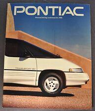 1990 Pontiac Brochure Firebird Trans Am Bonneville Grand Prix, Am 6000 Sunbird