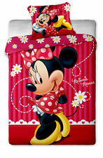 Disney Minnie Mouse A rayas cubierta individual de edredón 100% algodón por besttrend ®