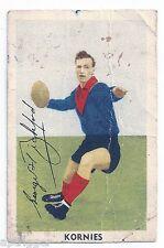 1951 Kornies Footballers In Action (No. 11) G. BICKFORD Melbourne
