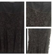 Calf Length Lace Patternless Regular Size Skirts for Women