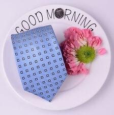 Blue DNA Strand Geometric Squares Classic Tie Mens 8cm Necktie Chemist Fashion