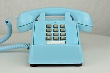 Professionally Restored Vintage Rotary Telephone Aqua Blue 2500 - SKU - 20982